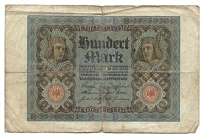 100 mark Germany banknote,ND(1920), G-VG