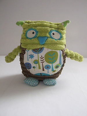 Green & Brown Shabbiy Chick Look Lullaby Musical Owl Toy - Annabel Trends