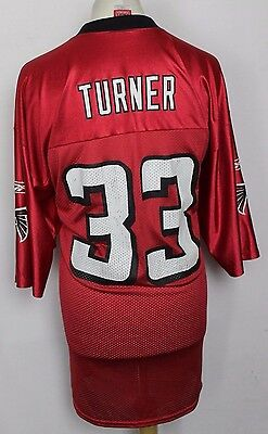 Turner #33 Atlanta Falcons American Football Jersey Mens Large Nfl Reebok