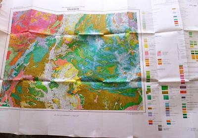 French geology map: Valence sheet 31-12. 1.250,000 1980