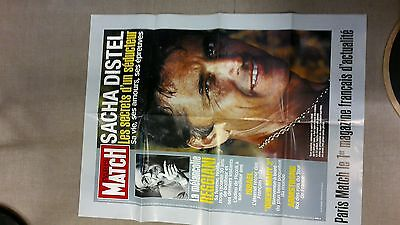 collector affiche paris match grd format mort SACHA DISTEL  2004 port offert