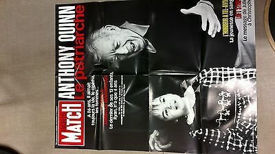 collector affiche paris match grd format special mort ANTHONY QUINN port offert