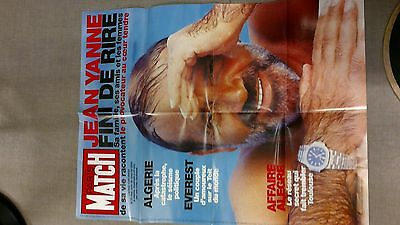 collector affiche paris match grd format mort JEAN YANNE 2003 port offert