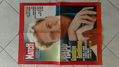 collector affiche paris match grand format mort BERNARD RAPP aout 2006