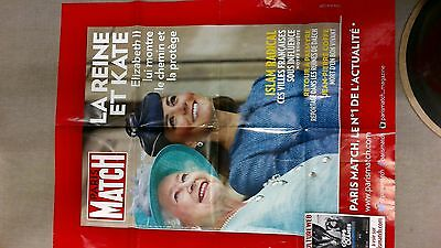 collector affiche paris match grd format special la reine et KATE port offert