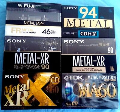 6 x SONY XR CDit IV TDK MA FUJI FR METAL - Blank Audio Cassette Tapes NEW sealed