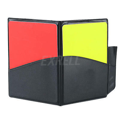 Soccor Football Sports Referee Penalty Note Wallet Pad Yellow Red Card Notebook