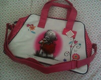 *EXCELLENT GIFT* Tatty Ted Overnight/School Shoulder/Hand Bag, Bright Pink  BNWT
