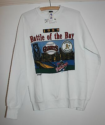 Vintage Battle of the Bay 1989 World Series Giants Oakland A's sweat shirt