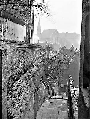 Photographic Glass Negative Long Stairs Old Nottingham History 1924 Superb!