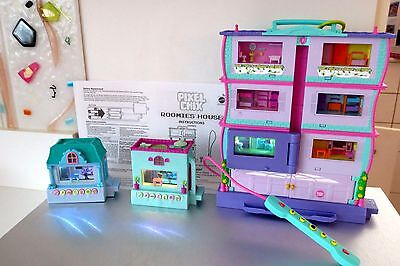 Pixel Chix  2007 Roomies 3 Story House & 2005 Houses Virtual Electronic Lot J4