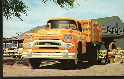 1958 ? GMC TRUCKS P21572 - Original dealer advertising postcard