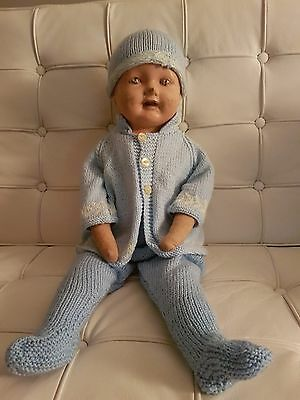 Vintage Composition Doll, Squeaker.....fabric Body...l@@k!!!!