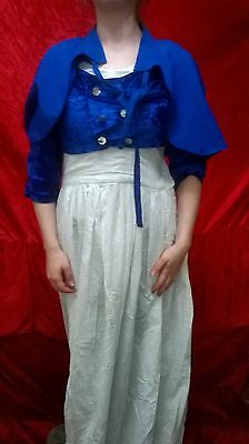 Royal Blue Ladies Victorian Regency Jane Austen Miss Bennet Regency Cape AnySize