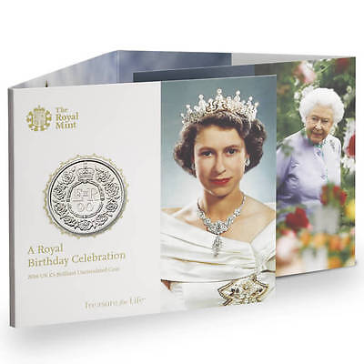 The Royal Mint Queen's 90th Birthday 2016 UK £5 BU Coin - UK1690BU