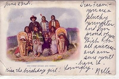 Chief Sevaro and Family, cp. 1904 ! Undivided Back !