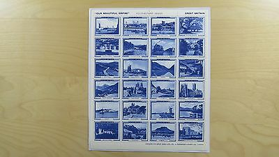 Stamps Great Britain Our Beautiful Empire Samuel Jones & Co LTD London Blue