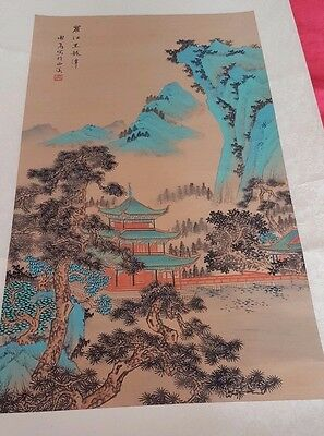 19th century? Chinese scroll painted ? 145cms long x 48cms