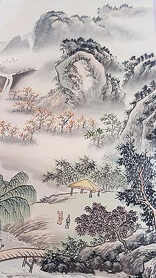 19th century? signed Chinese scroll painted ? 148cms long x 57cms