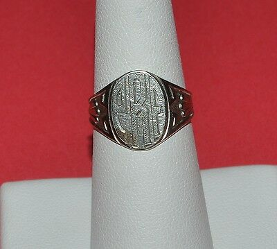 Vintage 10 K Gold Art Deco Signet Ring Size 6.5