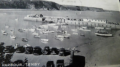 Old Postcard 1955 The Harbour Tenby Wales Valentine Silveresque  W3461