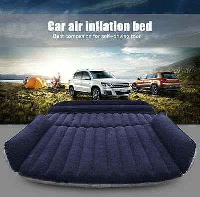 Travel Car Air Inflation Bed SUV Back Seat Mattress Camping Companion Flocking