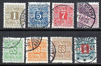 DENMARK – 1907 Newspaper stamps used to 1 Kr.