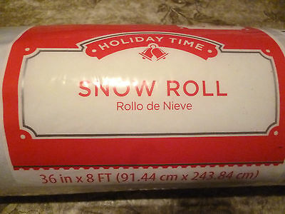 Holiday Time Snow Roll - Snow Cover Blanket - Village Displays  8' x 3' NEW
