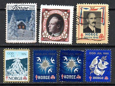 NORWAY – Christmas Labels, small collection