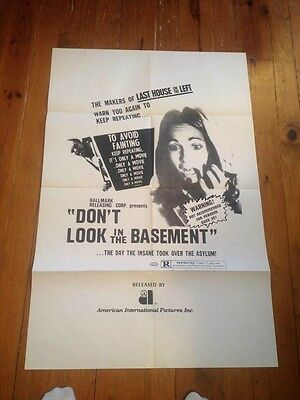 Don't Look In The Basement US RELEASE Original 1SH 27X41 Horror MOVIE POSTER