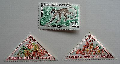 3 stamps of the Cameroons issued 1962 & 1963. Mint Lightly Hinged.