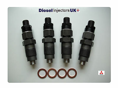 Mitsubishi Pajero Shogun 2.5 Td 4D56 Set Of 4 Genuine Zexel Diesel Injectors