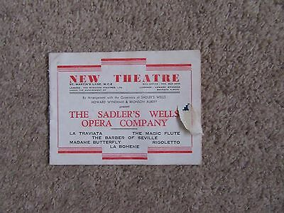 1940s Sadler's Wells Opera Company, New Theatre - The Barber of Seville