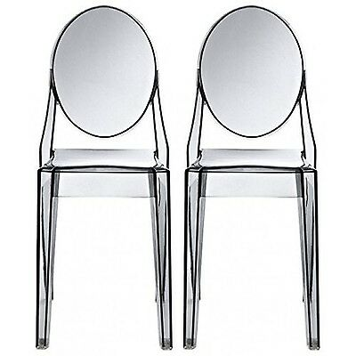 Nicer Furniture® Set of 2 Philippe Starck Louis XVI Ghost Side Chair without ...