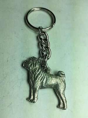 Dog Keychain, Shar Pro Dog, Made Of Fine Pewter