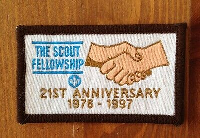 Scouts The Scout Fellowship 21st Anniversary cloth badge