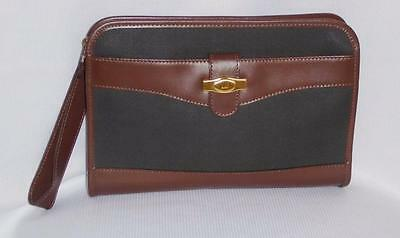 Dunhill Clutch Wristlet Bag Black & Brown Italy