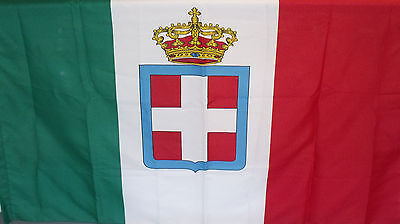 Mussolini  Beautiful Flag With The Emblem Of Savoy