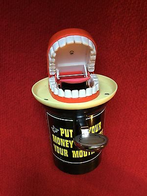 Old 1975 Put Your Money Where Your Mouth is Mechanical Bank