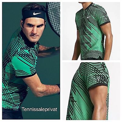 Roger Federer Nike 18 TITLE GS Champion 2017 Spring Shirt Miami IW Polo L Nadal