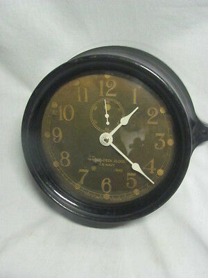 Vintage WWI 1942 U.S. Navy Mark I Seth Thomas Deck Boat Ships Clock M Low