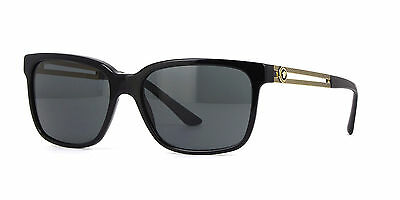 NWT Versace Sunglasses VE 4307 GB1/87 Black Gold / Gray 58 mm VE4307 GB187 NIB