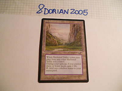 1x MTG Sheltered Valley-Valle Riparata Magic EDH ALL Alleanze ING Inglese x1