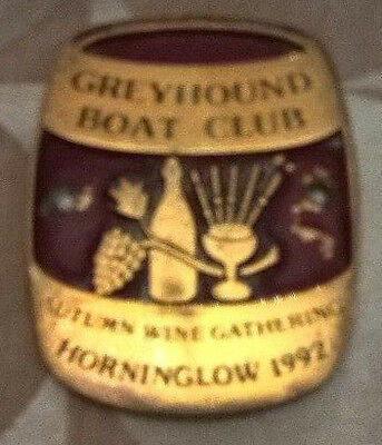 Brass boat plaque Autumn Wine Gathering Horninglow 1992