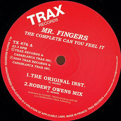 Mr. Fingers - The Complete Can You Feel It - Tx476 (Houseclassics Vinyl)