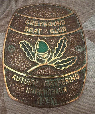 Brass Boat Plaque Autumn  Gathering  Horninglow 1991