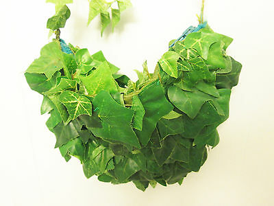 ONE-OF-A-KIND handmade Green Leaves jungle BAG purse foliage nature THEATER Prop