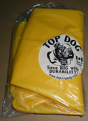 Top Bull Dog 6 Mil Pure Polyurethane Protective Yellow Rubber Regular Sleeves