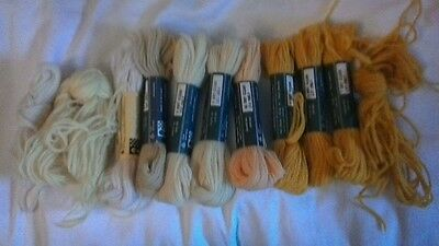 Twilles stranded embroidery wool yellows