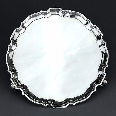 Antique Solid Sterling Silver Salver / Card Tray, Sheffield 1936.